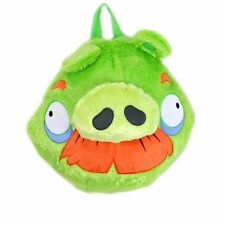 "New Angry Bird Green Pig Plush Back pack 15"" , adjustable shoulder straps"