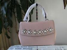 NWT Michael Kors Leather Ava Jewel Extra Small Crossbody Bag Ballet