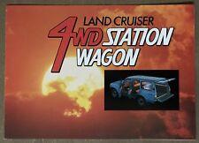 1982 Toyota Land Cruiser 4WD Station Wagon original sales brochure (1/82)