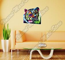 "Colorful Tiger Painting Paint Abstract Wall Sticker Room Interior Decor 25""X20"""