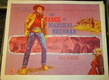 THE BADGE OF MARSHALL BRENNEN! '57  JIM DAVIS ORIGINAL 1/2-SHEET FILM POSTER!