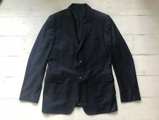 GUCCI MENS SLIM FIT NAVY WOOL SUIT JACKET BLAZER SZ 42""