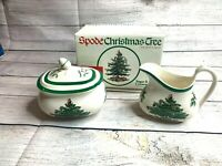 Spode Christmas Tree Sugar And Creamer