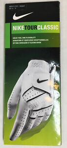 Nike Tour Classic Men's Golf Glove Men's Regular Right White Sz S 22 Cm NIP