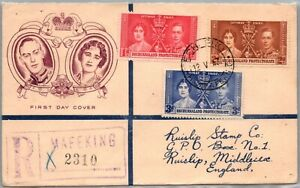 GP GOLDPATH: BECHUANALAND COVER 1937FIRST DAY COVER REGISTERED LETTER _CV699_P16