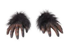 BROWN HAIRY HANDS GORILLA MONKEY FANCY DRESS #CHIMPS HALLOWEEN HORROR ACCESSORY