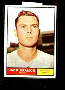 1961 TOPPS #36 JACK KRALICK TWINS EX+ E02173