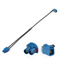 """Antenna Adapter Aerial Twin FAKRA Cable Double Male 12"""" For AUDI VW Seat Skoda"""