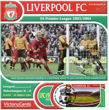 Liverpool 2003-04 Wolves (Sami Hyypia) Football Stamp Victory Card #319