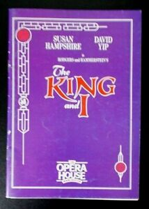The King and I programme Manchester Opera House 1991 Susan Hampshire David Yip
