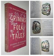 1949 GRIMM'S FAIRY TALES Hand Coloured Plates George Cruikshank FOLIO SOCIETY