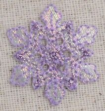 Small Snowflake Purple Iridescent/Christmas Iron on Applique/Embroidered Patch