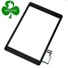 For iPad Air 1st Gen Touch Screen Digitizer Black Glass Home Button Adhesive