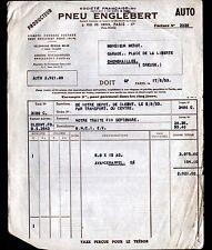 """PARIS (XVII°) PNEUS / PNEUMATIQUES AUTOMOBILE """"ENGLEBERT"""" en 1953"""
