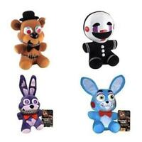 4PCS FNAF Five Nights at Freddy's Nightmare Freddy Puppet Bonnie Plush Toy 6""