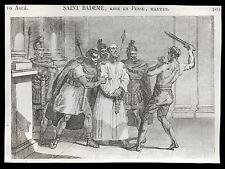 santino incisione 1800* S.BADEMO M. IN PERSIA