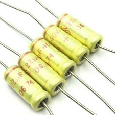 22UF 40V AXIAL ELECTROLYTIC CAPACITOR SIEMENS QTY:5