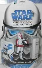 """STAR  WARS  CLONE TROOPER  OFFICER  (red ) yr.2008  33/4"""" Action  Figure"""