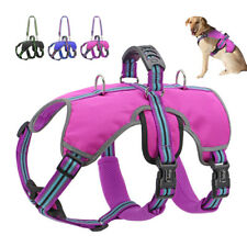 No Pull Dog Harness Adjustable Reflective Easy Control Large Dog Vest with Leash