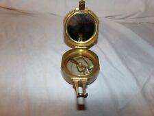 Genuine Rare Sterly Solid Brass Nautical Sine Level Compass London