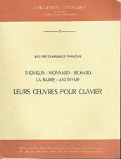 GASTON LITAIZE 18 Les pré-classiques Francais - Thomelin -Monnard - Richard -
