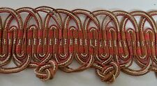 EXQUISITE ANTIQUE WIDE SILK PASSEMENTERIE TRIM KK38B