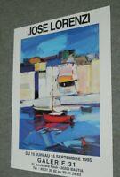 José LORENZI  1995  Exposition Galerie 31  BASTIA