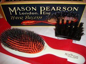 Mason Pearson Large Size BN1 Popular Bristle & Nylon Hairbrush – Ivory