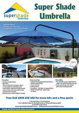 Umbrella 5 metre  Large Outdoor  Cantilever  Black /Marine blue PVC