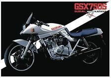 SUZUKI Poster KATANA GS750S GSX750S 1981 1982 1983 Suitable to Frame