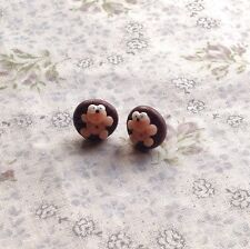 Hedgehog earrings Handmade Cute Cheeky Studs