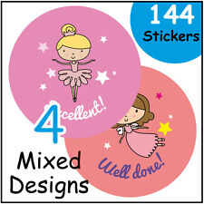 Girly general praise stickers labels award girl female school nursery teacher