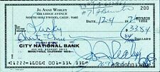 JO ANNE WORLEY Signed Check + March 1969 Laugh-in Magazine