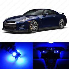 7 x Ultra Blue LED Interior Light Package For 2009 - 2014 Nissan GTR