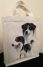 Australian Shepherd Cotton Small Fun Party Bag Tote with Gusset Useful Gift
