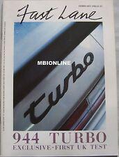 Fast Lane 02/1986 featuring Porsche 944, Ford Cosworth, Opel Manta GTE, BMW