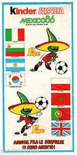 ADESIVO KINDER SORPRESA=MEXICO 86