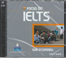 Longman FOCUS ON IELTS CD's 1 & 2 by Sue O'Connell @BRAND NEW & SEALED@