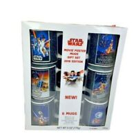 Star Wars 6 PC Mug Set- Ep 4-6 W/Hot Cocoa Packs Empire Strikes Back Return Jedi