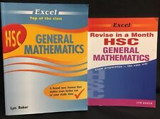 Excel HSC General Maths By Lyn Baker Study Guide Plus Revise In A Month 2 Books