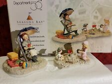 "Department 56 Seasons Bay ""A Day At The Waterfront"" Set Of 2 Mib"