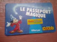 rare pass euro disney le passeport magique avec les 6 vignettes disneyland paris