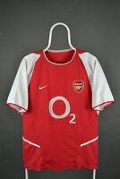 Arsenal 2002-2004 Home Nike Shirt Football Jersey M MEDIUM