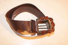 Ceinture femme marron neuve  en cuir de vachette taille 75 cm étiqueté à 69€