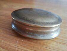 Antique vintage brass snuff box / tobacco tin / pin tin