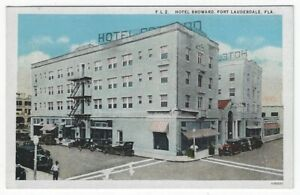 Fort Lauderdale, Florida, Vintage Postcard View of Hotel Broward