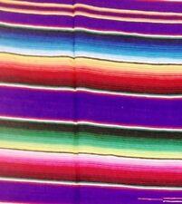 Genuine purple Mexican blanket 2 x 1.60m sarape picnic rug Saltillo throw VW