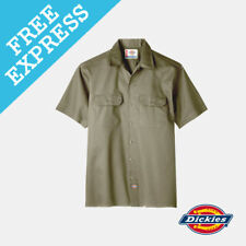 Dickies Short Sleeve Work Shirt 2xl Khaki