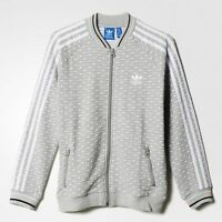 adidas originals girls grey spotted zip up jacket. Jacket. Various sizes!