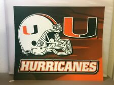 University of Miami Hurricanes Football Sign Wall Art Meant For Backlight WS8